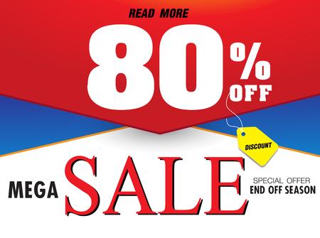 Template super sale poster banner. Big sale, clearance sale. Vector illusration Ilustração