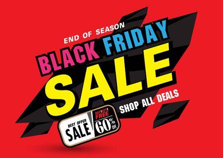 Sale banner template design, Summer sale special offer. end of season special offer banner. illustration Illusztráció
