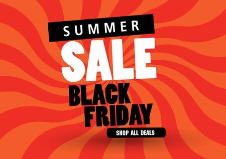 Sale banner template design, Summer sale special offer. end of season special offer banner. vector illustration