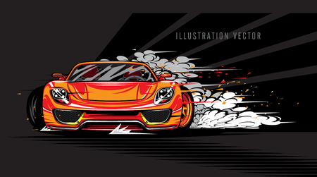 Vector sports car super speed illustration Stock Illustratie