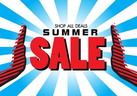 Sale banner template design, summer sale banner. vector illustration