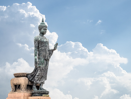 buddism: The Buddha statue, Could Background, Thailand