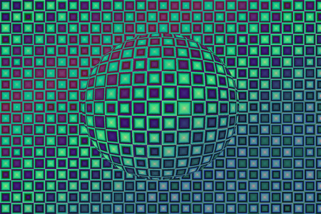Abstract patterns in green colors photo