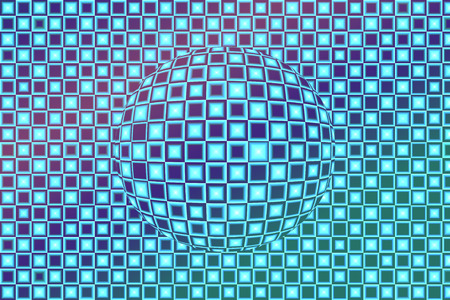 Textured globe in 3D effect photo