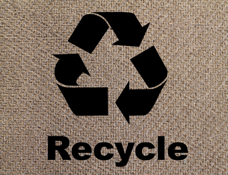 Recycle background with narrows and textured paper photo