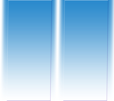 Blue and white gradient strips facing each other in a white background