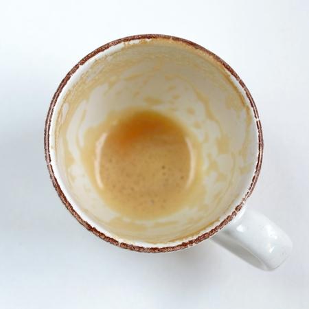tazas de cafe: Vaciar taza de café