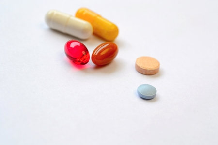 fillers: Pills and capsules Stock Photo