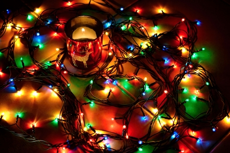 candle lights: Christmas lights