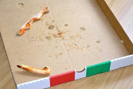 box of pizza: Caja de pizza vac�a