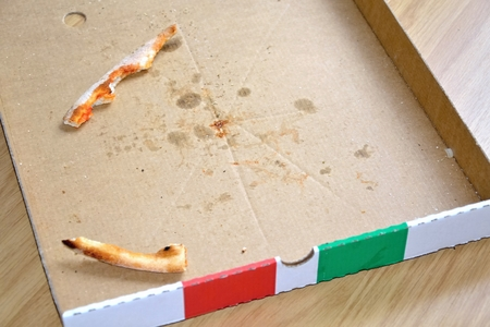 completed: Empty pizza box