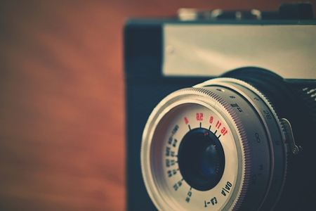 analog camera: Russian old analog camera Stock Photo