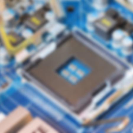 componentes: fondo borroso con componentes inform�ticos Foto de archivo