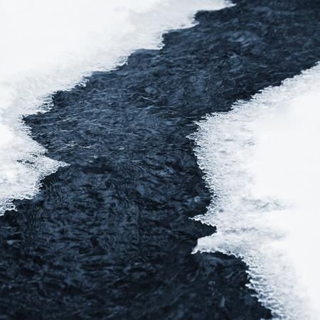 frozen creek: Frozen creek Stock Photo