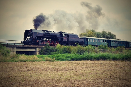 cz: Historic steam train in Czech Republic Stock Photo