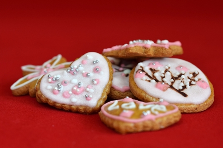 gingerbread cookies: Decorated gingerbread cookies
