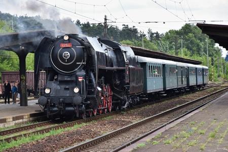cz: Historic steam train in Czech Republic Editorial