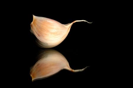 mirroring: Mirroring garlic Stock Photo