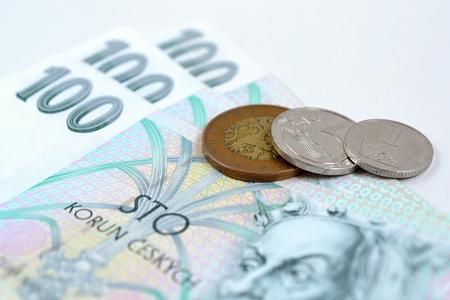 koruna: Czech koruna money