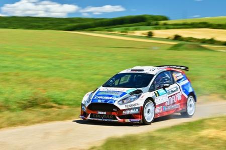 Hustopece, Czech Republic June 18, 2016. Rally car. Race. Editorial