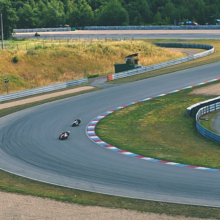 moto2: Motorcycles on the racetrack.Brno