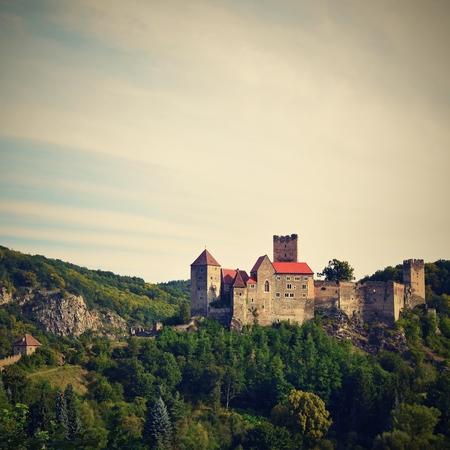 iron curtains: Hardegg Castle, National Park Thaya Valley, Lower Austria. Editorial