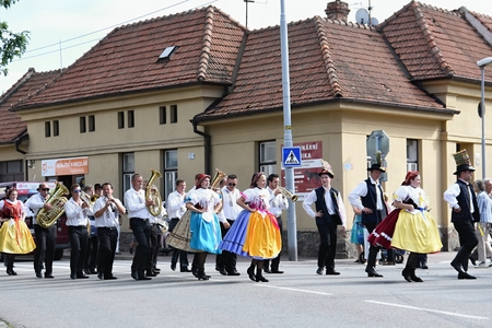 feast: Brno, Czech Republic August 16, 2016.  Czech traditional feast. Tradition folk dancing and entertainment. Editorial