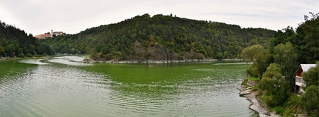 Vranov Dam on the river Thaya, South Moravia, Czech republic