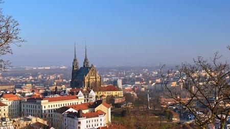 Petrov - 세인트 피터 스 및 브르노 도시에서 폴 교회. 중앙 유럽 체코. 스톡 콘텐츠 - 69456471