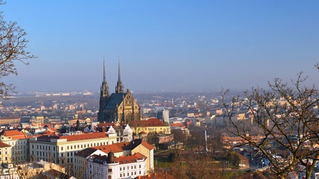 Petrov - St. Peters and Paul church in Brno city. Central Europe Czech Republic.