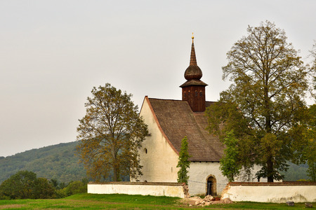 Landscape with a beautiful chapel    . Czech Republic city of Brno. The Chapel of the Mother of God.
