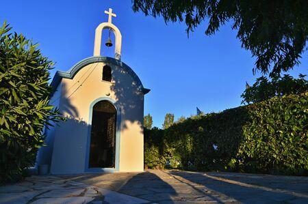 Traditional beautiful small chapel Greek style. Kos Island-Greece.