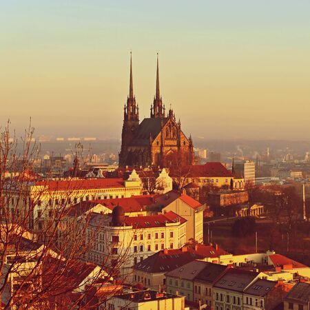 Petrov, Cathedral of St. Peter and Paul. City of Brno - Czech Republic - Europe.
