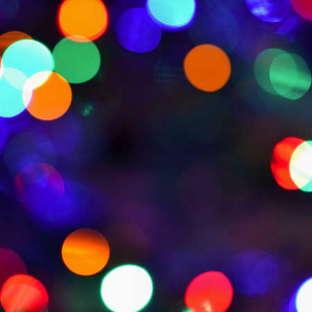 Abstract christmas background, xmas texture from color lights for Christmas tree.