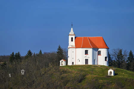 Beautiful old chapel of St. Anthony. Dolni Kounice Czech Republic