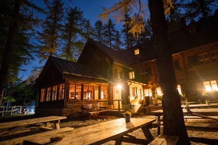 Chamanna Cluozza im Schweizer Nationalpark bei Nacht