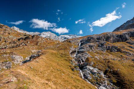 Ova dal Munt Bergbach bei Futschellas im Engadin im Herbst
