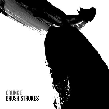 brush drawing: Brush stroke and texture Illustration