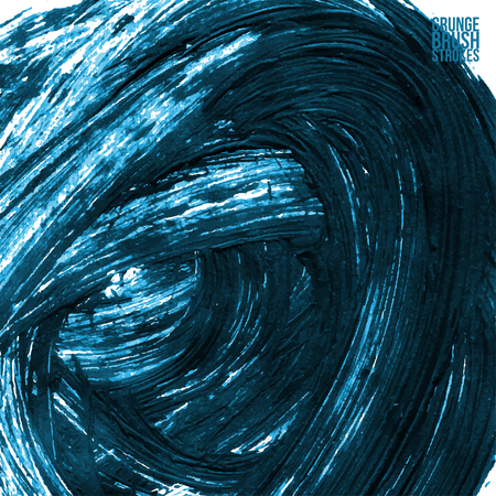 brushstroke: Brushstroke and texture. Vector design.