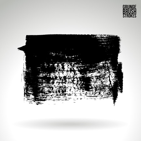 Brush stroke and texture. Grunge vector abstract hand - painted element. Underline and border.