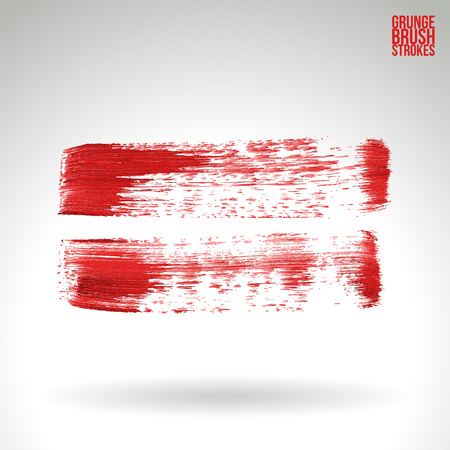 splash page: Brush stroke and texture. Grunge vector abstract hand - painted element. Underline and border.