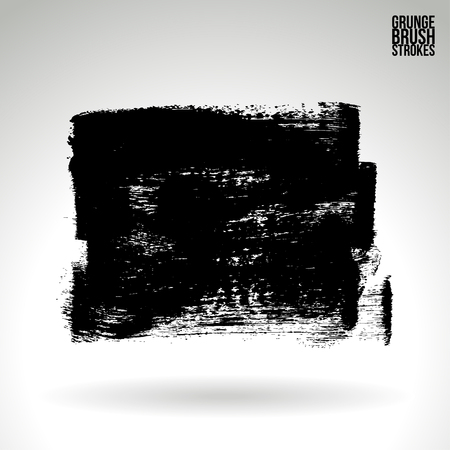 daub: Brush stroke and texture. Grunge vector abstract hand - painted element. Underline and border.