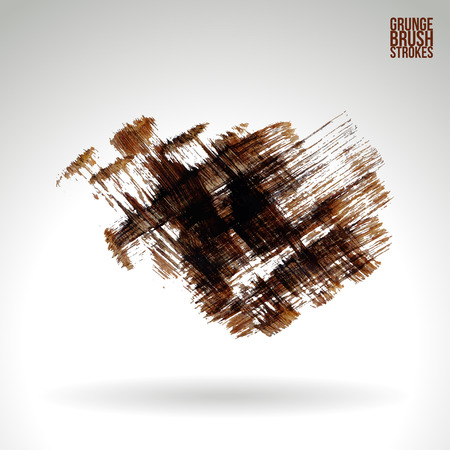 canvas print: Brush stroke and texture. Grunge vector abstract hand - painted element. Underline and border.