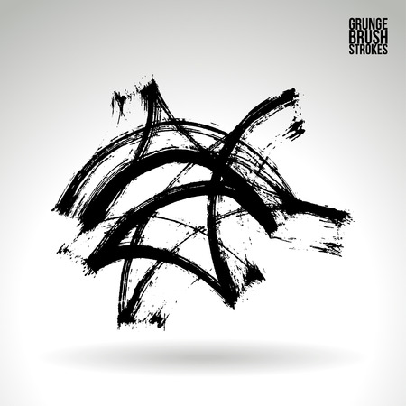 torn edge: Brush stroke and texture. Vector design. Underline and border.