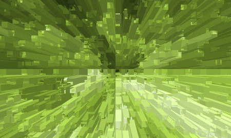 Fractal green design Vector