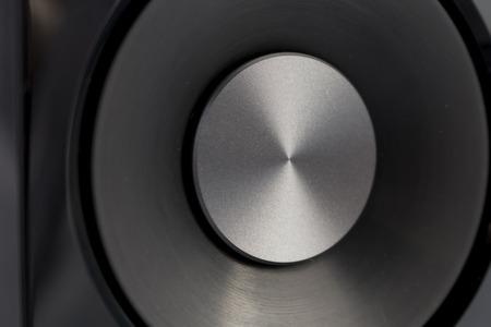hifi: Speaker hi-fi audio close-up Stock Photo