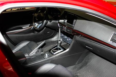 Luxury car interior photo