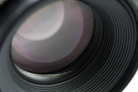Camera lens close-up photo