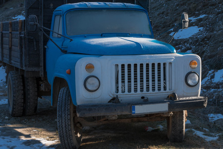 rusting: Old russian truck , Zil Stock Photo