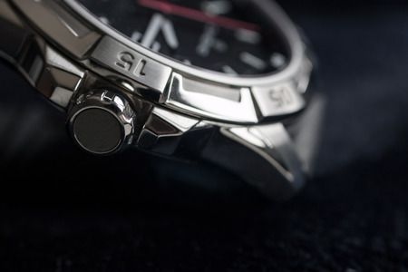 homem luxo relógio acessório detalhe, cronógrafo macro